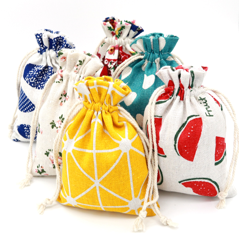 High Quality Cute Drawable Cotton <font><b>Bags</b></font> 10pcs/lot 10x14cm Jewelry Sweet <font><b>Candy</b></font> Gifts Packaging Drawstring <font><b>Bags</b></font> Pouches for Party image
