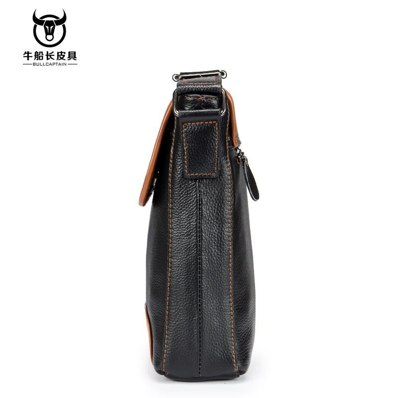 Image 4 - Cow Genuine Leather Messenger Bags Men Travel Business Crossbody  Shoulder Bag for Man Handbags Messenger Small Men Cow LeatherCrossbody  Bags