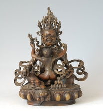 ATLIE BRONZES bronze Buddha bodhisattva statue sculpture gifts Double body like the god of wealth