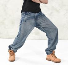 2015 мужчин джинсы мешковатые джинсы хип-хоп брюки свободного покроя широкий джинсы большого размера 30 — 42