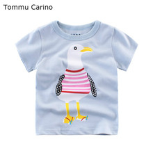 Cuter Cartoon Printed T-shirt For Boys High Quality  Cotton T-shirt Boy's Half sleeve Summer Tops 2 4 6 8 10 Years Child Clothes