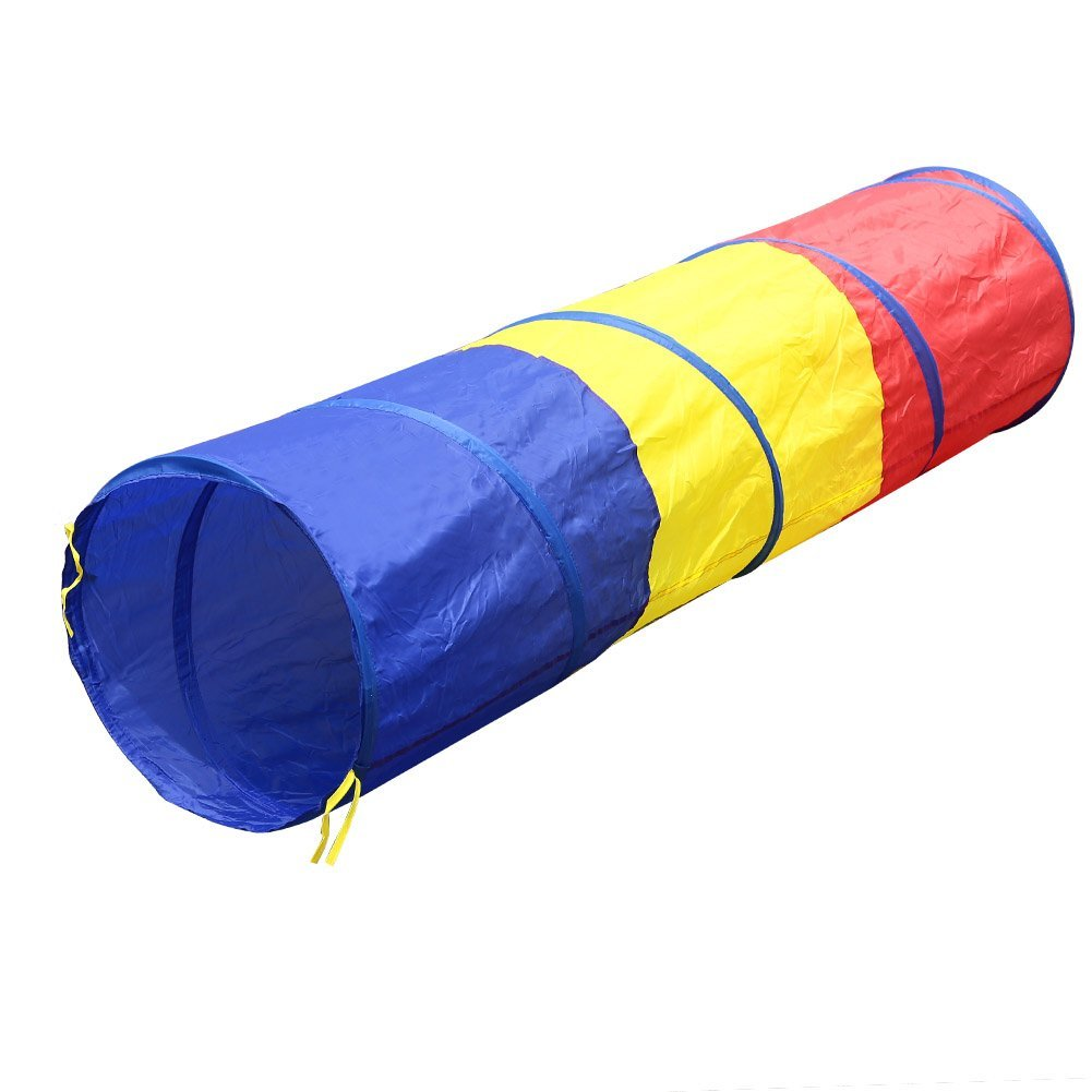 Portable Foldable font b toy b font tent for Children Kids tricolor tunnel Play tent suit