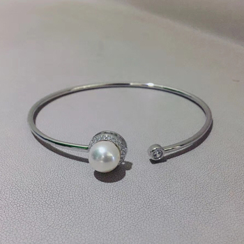 925 Sterling Silver Pearl Bracelet Mountings Fashion ADJUSTABLE Bangle Findings Jewelry Parts Fittings Accessories