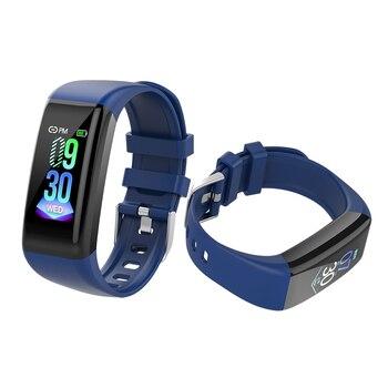 Fitness Tracker Health Smart Bracelet Waterproof Sport Watch ECG PSG Recorder Bracelet Android IOS Smart Phone Watch 2019 C21