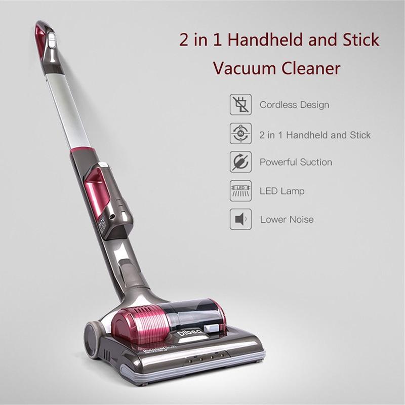 Dibea C01 Upright Wireless Vacuum Cleaner 2 In 1 Powerful Car Cordless Handheld Vacuum Cleaner For