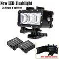 Go Pro 35m Diving Flash Light Underwater Led Light lamp+2x GoPro4 Batteries + For Gopro Hero 5 3+4 Session XiaoMi yi 4K SJCAM