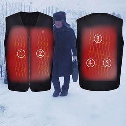 Electric Heated Warm Vest Heating Coat Jacket Pad Socks Clothing Skiing Warm High quality thickening Warm-keeping