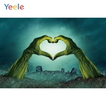 Yeele Halloween Horror Hands Bomb Moon Customized Photography Backdrops Personalized Photographic Backgrounds For Photo Studio
