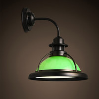 Kc lamps american vintage led wrought iron balcony bar table personalized wall lamp