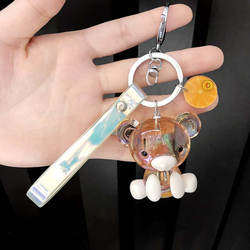 Creative Keychain Custom Cartoon keychain Plastic Key Pendant