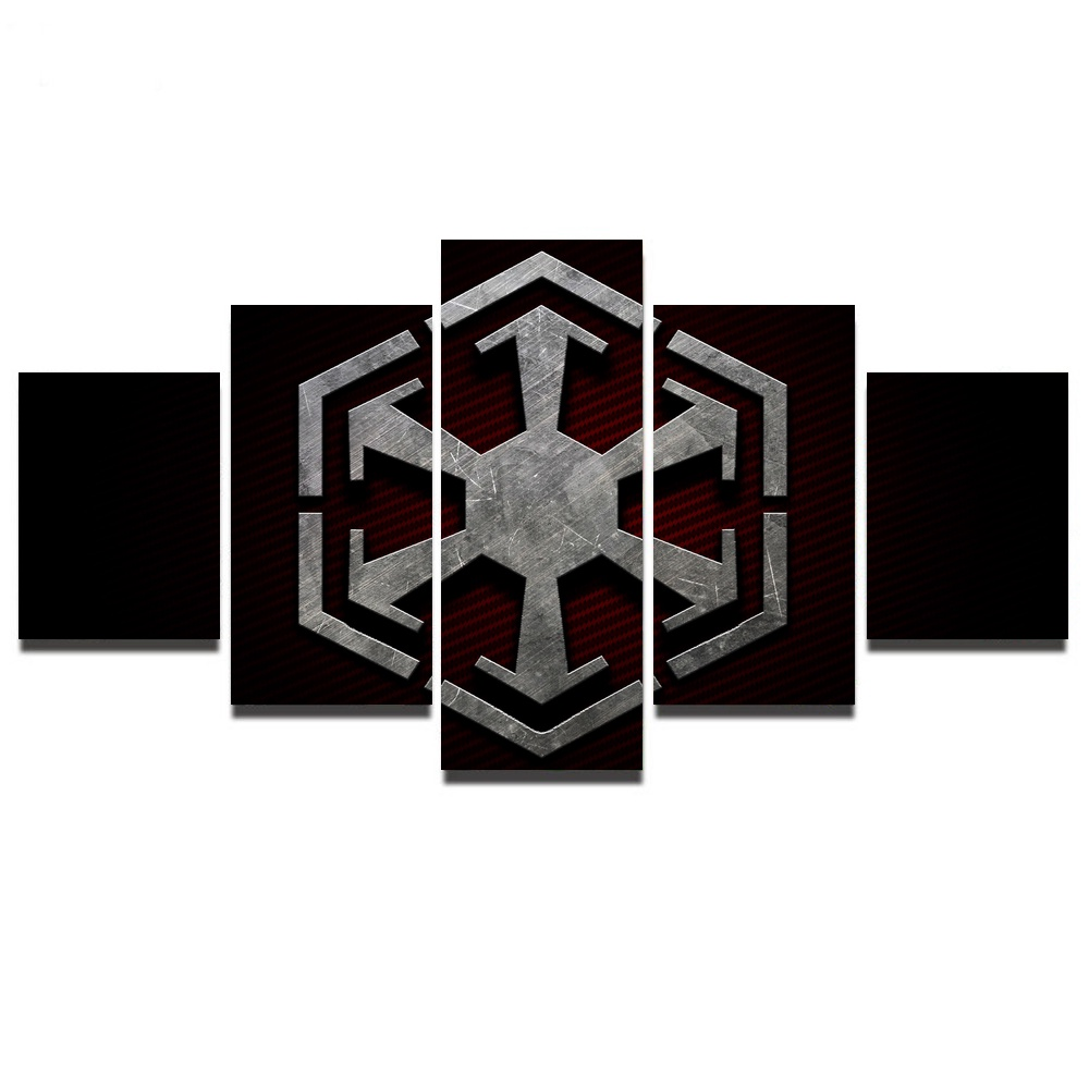 5 Pieces Star Wars Sith Symbol Modern Home Wall Decor Canvas Picture