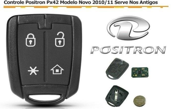 Бразилия старый Positron Автосигнализация 4 кнопки дистанционного ключа Управление 433,92 МГц