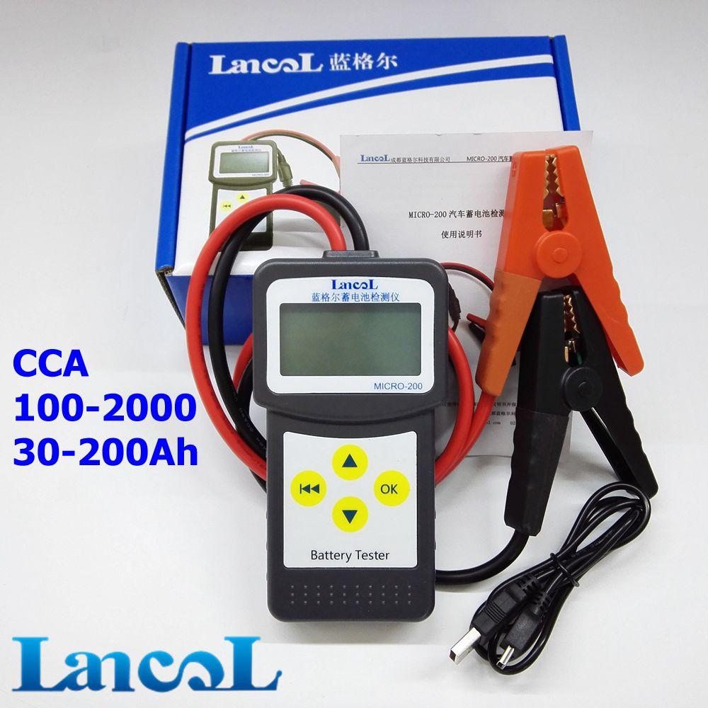 Prix pour LANCOL MICRO-200 Pas Cher Automobile Batterie De Voiture Testeur 12 V 30-200Ah avec USB pour impression