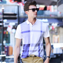 Free shipping!2016 thin models Men's plaid hit color polo shirts casual men's short-sleeved lapel polo shirt brand Men polos