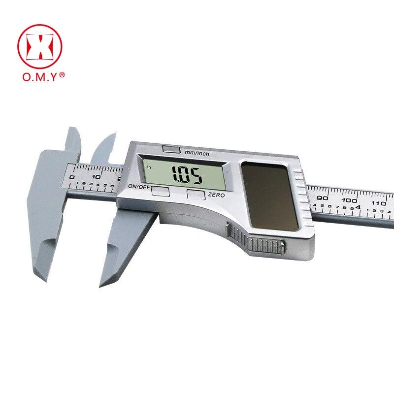 0-150mm 6 polegada Bateria Solar Caliper Digital Vernier Caliper LCD Vernier Calibre Micrômetro ferramenta de medição