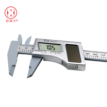 0-150mm 6 inch Solar Battery Digital Caliper Vernier Caliper LCD Vernier Gauge Micrometer measuring tool new 12 300mm metal digital lcd caliper vernier gauge micrometer with box