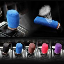 2Pcs/Set Gear Shift Knob Cover Car Handbrake Cover Hand Brak
