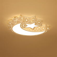 Modern Diamond LED Ceiling Light Star Moon Lamps Lighting Decorative Bedroom Living Room Hotel Lobby
