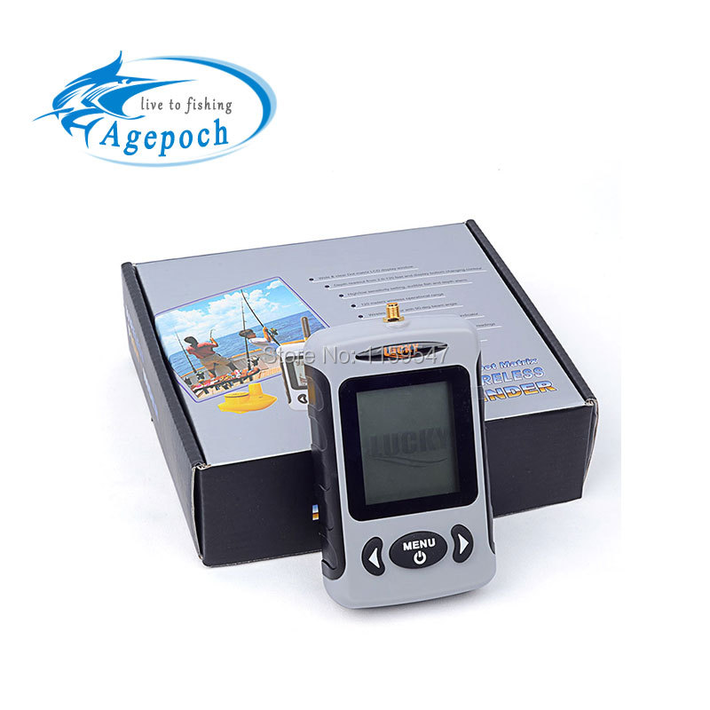 Agepoch lucky fish finder sounder wireless sonar fishing for Lucky fish finder