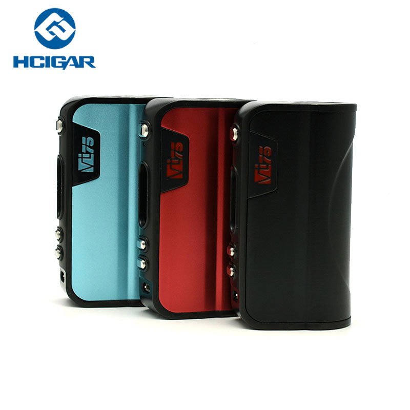 Original Electronic Cigarettes Hcigar VT75 Box MOD 75W Vape Mod Use 18650 Battery Vape For E Cigarettes Atomizer Vaporizer Tank original lost vape therion bf dna75 75w battery cover