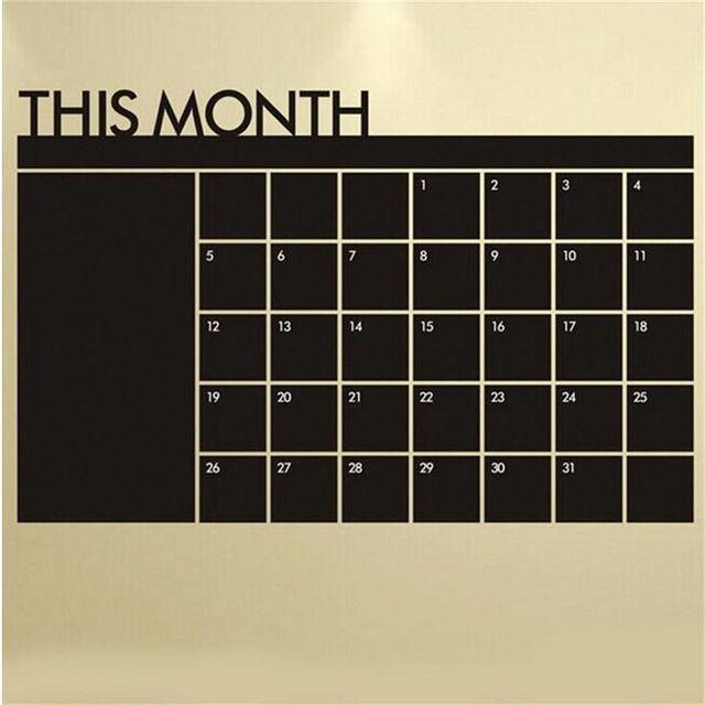 Monthly Chalkboard 60cm x 92cm