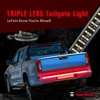 MICTUNING New 60 Triple Row High Power Auto Flexible LED Strip Lamp Decorative Strobe Turn Signals Brake Running Reverse Light