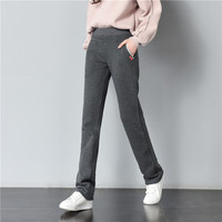 Mid Elastic Waist Winter Plus Velvet Thicken Women S Sweatpants Warm Pants Good Quality Non Inverted
