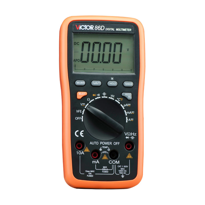 Digital Multimeter Meter VC86D Victor Multimeter VC30274,meter with RS232 and USB jack VICTOR 86D victor 6056d digital clamp meter