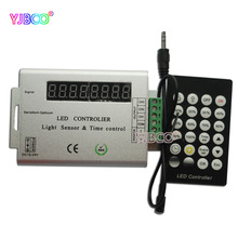 New DC12-24V Intelligent Light Sensor&Time Controlled Controller Common Anade 24 Key IR Remote for led strip light