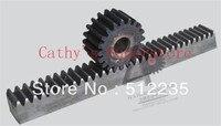 Cremallera 1.5mod 41-50 dientes rectos maquinaria de precisión de engranajes de la industria de acero 45 cremallera y piñón endurecimiento de frecuencia