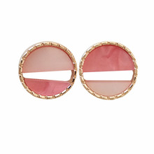 2018 the new geometry earrings sweet temperament circular female contracted small personality stud