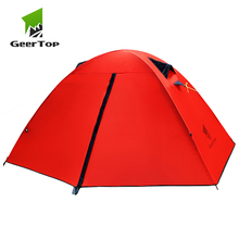 GeerTop 1 Person 3 Season Backpacking Tent Portable Ultralight Waterproof Camping Equipment Doom Tents for Outdoor Hiking Camp