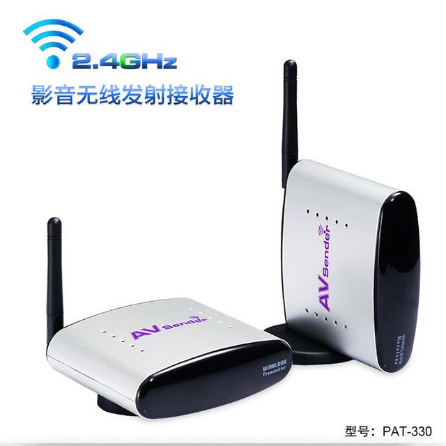 2.4GH150M AV Transmissor Sem Fio & Receptor remetente De Áudio e Vídeo de Transmissão de TV receptor de Sinal de TV 3 RCA para HDTV DVD