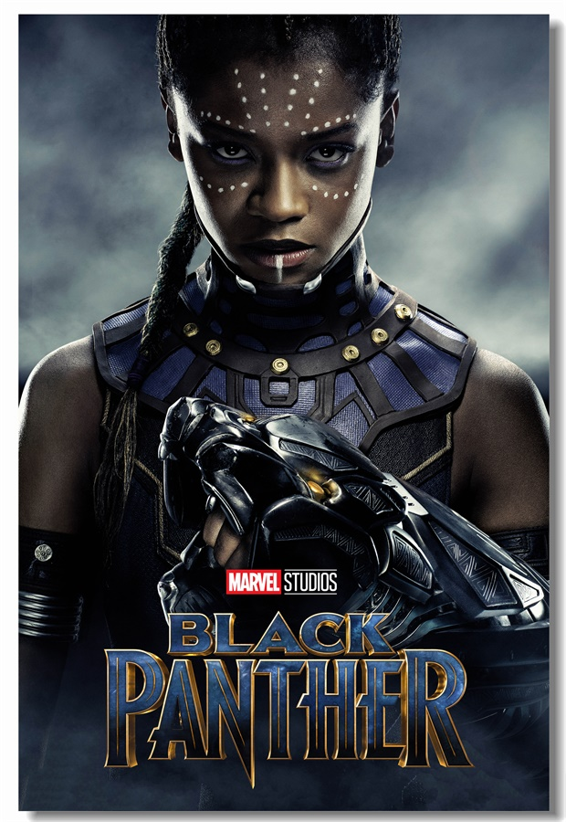 Custom Canvas Wall Decor Black Panther Poster Letitia Wright Shuri Sticker Mural Character Nakia Lupita Nyong'o Wallpaper #0316#
