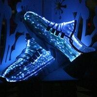 Новинка; обувь со светодиодной подсветкой Хэллоуин Косплэй для танцев модная обувь световой ткань из оптического волокна обувь Повседневн