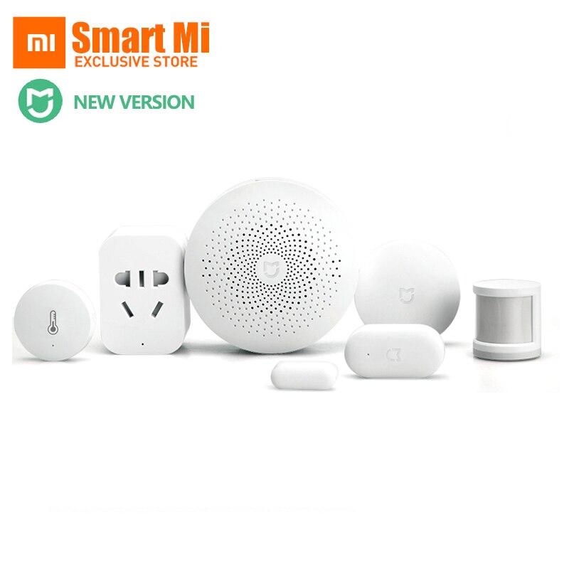 Original Xiaomi Smart Home définit la passerelle 2 porte fenêtre capteur capteur de corps humain commutateur sans fil multifonctionnel appareils intelligents Kit