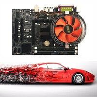 Motherboard CPU Set with Quad Core 2.66G CPU i5 Core + 4G Memory + Fan ATX Desktop Computer Mainboard Assemble Set Drop Shipping