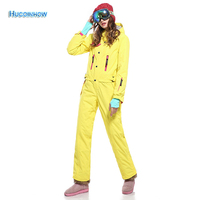 30 Degree Winter Snow Ski Suits Women One Piece Ski Jumpsuit Breathable Snowboard Jacket Skiing