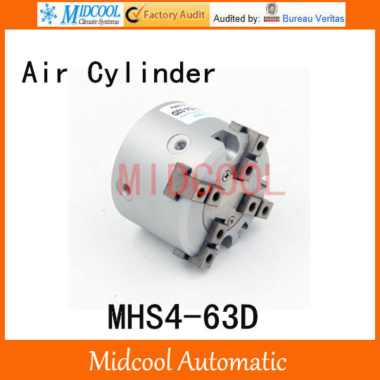 MHS4-63D double acting pneumatic cylinder gripper pivot gas claws parallel air 4-fingers SMC type cylinder high quality double acting pneumatic robot gripper air cylinder mhc2 25d smc type angular style aluminium clamps