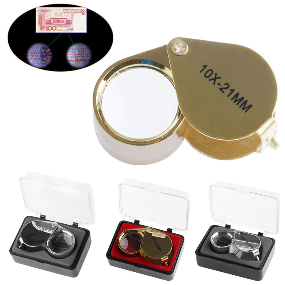 Mini Triplet Jeweler Eye Loupe Magnifier Magnifying Glass Jewelry Diamond New 10X 18mm 20X 21mm 10X 21mm 30X 21mm mg21008 30x 21mm magnifier w 1 led white light black 3 x lr1130