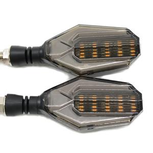 Image 4 - Luz Universal negra para intermitente de motocicleta, luz de giro para súper motocicleta, para aprilia CAPONORD / ETV1000 RS250 RS125