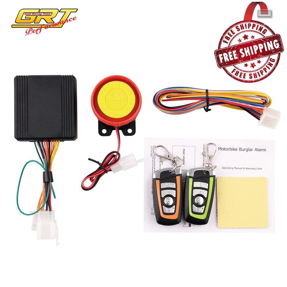 Universal Plastic Motorbike Burglar Alarm Dual Remote Control Sensor Motorcycle Moto Alarm Anti-theft Security System Warning