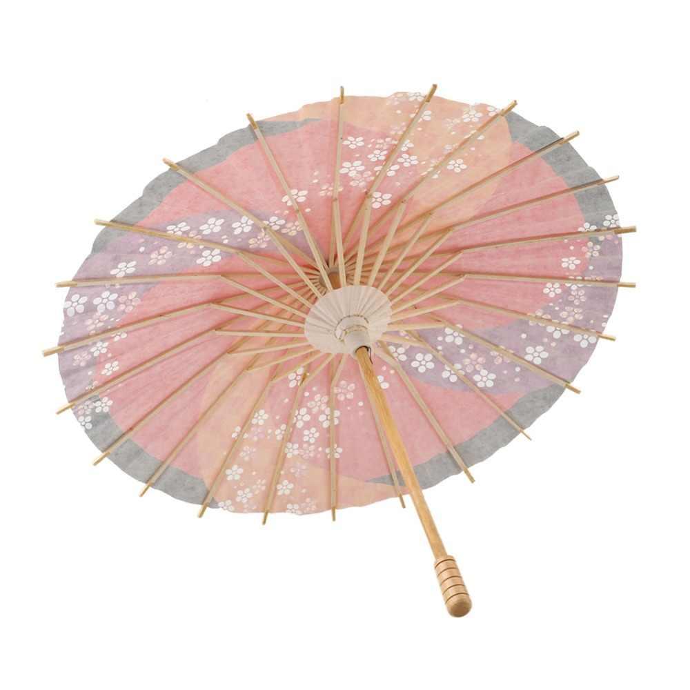 Guarda-chuva Guarda-chuva De Casamento Decoração De Casamento Artesanal De Madeira Acessórios De Vestuário Japonês Guarda-chuva de Papel do transporte Da Gota