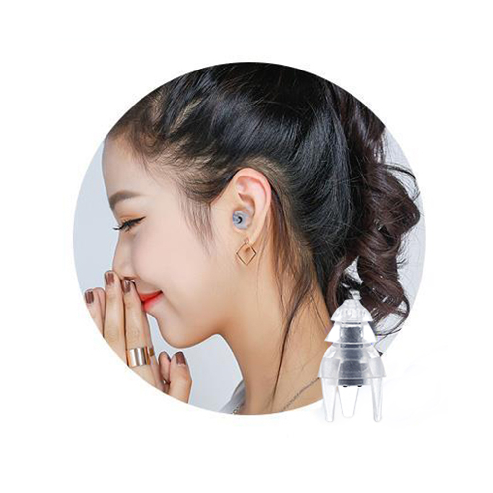 PUAroom 2 Pairs Silicone Sleeping Ear Plugs Noise Reduction Reusable Hearing Protection 45dB Noise Canceling2 pairs in Ear Protector from Security Protection