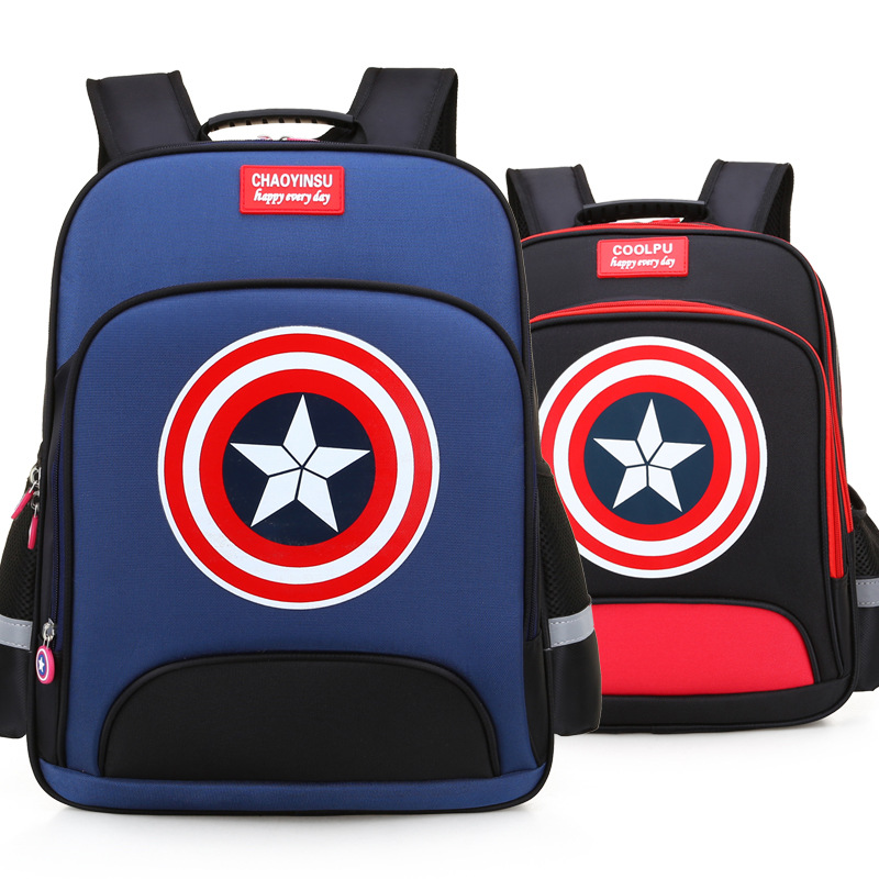 High Quality EVA 3D Captain America children school bags Boy Cartoon school Backpack Suitable for 6-12 years old kids bag image