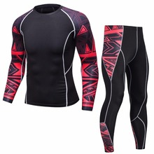 Rashguard MMA Long Sleeve Crossfit Men's T-Shirt Compression Sportswear Set Men's Fitness Wear Men's Shirt Sportswear