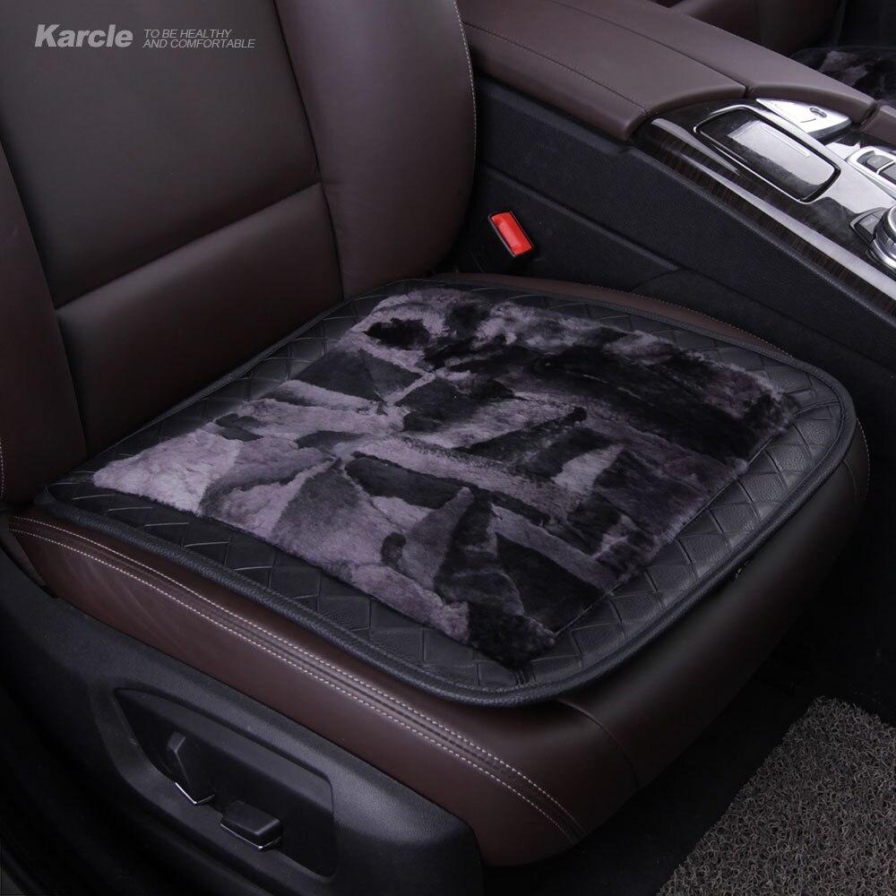Karcle 1 шт. из овчины Чехлы шерсти и кожи дышащий Подушка сиденья автомобиля противоскольжения автомобиль Стайлинг для аксессуары KIA авто