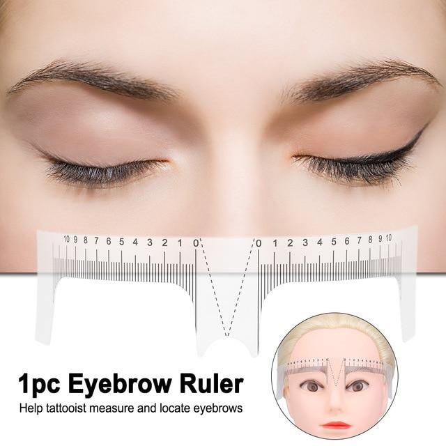 1pc Reusable Permanent Eyebrow Ruler Eyebrow Measure Tattoo Guide