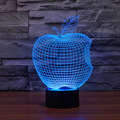 Apple Shape Lamp 3D Visual Led Night Novelty Lights for Kid Touch USB Table Lampara As Besides Lampe Baby Sleeping Nightlight