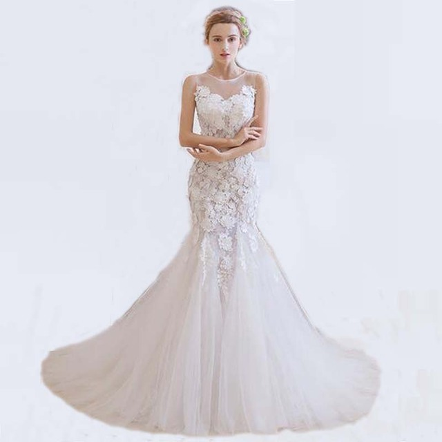 Designer White Tulle Wedding Gown With Lique Backless And Corset Mermaid Dress Custom Made Vestido